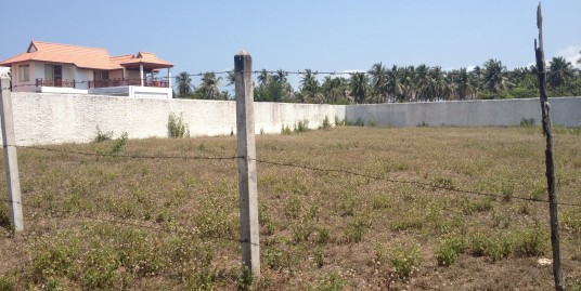 Two separate plots of land